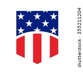 us flag symbol. logo vector. | Shutterstock .eps vector #355211204