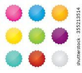 colorful set of glossy blank... | Shutterstock .eps vector #355213514