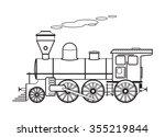 steam locomotive. vector...   Shutterstock .eps vector #355219844