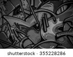 street art grafitti in black... | Shutterstock . vector #355228286