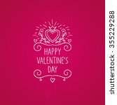 valentine's day typographic... | Shutterstock .eps vector #355229288
