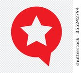 speech bubble star icon...