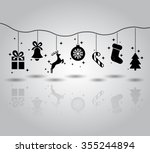christmas symbols flat icon... | Shutterstock .eps vector #355244894