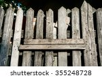 Old Wooden Fence And Wooden...