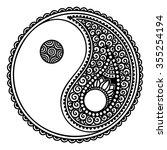 yin yang decorative symbol....   Shutterstock .eps vector #355254194