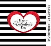 red glitter heart frame. eps10 | Shutterstock .eps vector #355254989