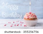 Delicious Birthday Cupcake On...