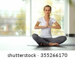 Young Woman Do Yoga   Meditation