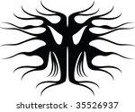tattoo mask 2 | Shutterstock .eps vector #35526937