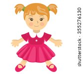 Vector Toy Doll Pink Dress