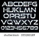 chrome letters | Shutterstock .eps vector #355283189