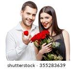 young beautiful caucasian...   Shutterstock . vector #355283639