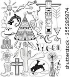 black and white doodle coloring ... | Shutterstock .eps vector #355285874