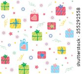 colorful presents seamless... | Shutterstock .eps vector #355292558