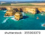 aerial view of shipwreck coast... | Shutterstock . vector #355303373