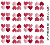 vector celebratory love pattern ... | Shutterstock .eps vector #355304354