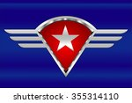 white star on the winged shield....