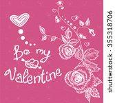 saint valentine background....   Shutterstock .eps vector #355318706