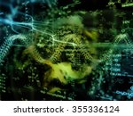 molecular dreams series.... | Shutterstock . vector #355336124