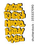 comic style font. vector...