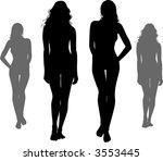 black silhouettes of naked... | Shutterstock .eps vector #3553445