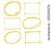 blank circle and rectangle...   Shutterstock .eps vector #355354376
