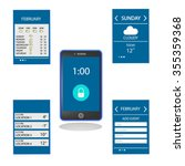 weather and schedule ui or ux...