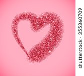 Glitter Heart With Sparkles Fo...