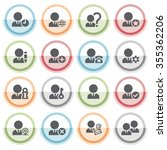 users icons with color stickers.   Shutterstock .eps vector #355362206