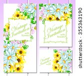 invitation with floral... | Shutterstock . vector #355363190