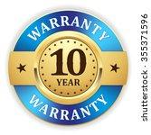 gold 10 year warranty badge... | Shutterstock .eps vector #355371596