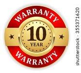gold 10 year warranty badge... | Shutterstock .eps vector #355371620