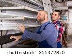 couple of workmen 30 35 yeas... | Shutterstock . vector #355372850