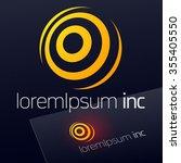 abstract vector logotype.... | Shutterstock .eps vector #355405550