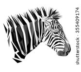 Zebra Animal Low Poly Design....