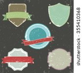 set of retro vintage badges and ...   Shutterstock .eps vector #355410368