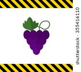 icon of grapes bunch | Shutterstock .eps vector #355416110