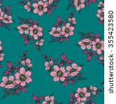 seamless pink floral pattern... | Shutterstock .eps vector #355423580