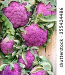 Small photo of Purple cauliflower in box. Bit garish but very healthy vegetable. Rich in antioxidants.