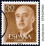 spain   circa 1955  a stamp... | Shutterstock . vector #355429460
