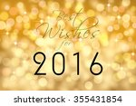 """best wishes for 2016"" text... 