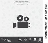video camera icon vector   Shutterstock .eps vector #355435550