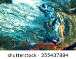 marbled liquid unique pattern | Shutterstock . vector #355437884