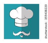 chef cap and mustache graphic... | Shutterstock .eps vector #355438220