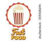 delicious fast food graphic... | Shutterstock .eps vector #355438244