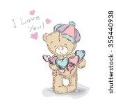 teddy bear vector.  st.... | Shutterstock .eps vector #355440938