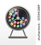 rotate the lotto drum with... | Shutterstock .eps vector #355441889