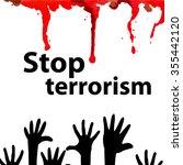 dripping blood. no terrorism....   Shutterstock .eps vector #355442120
