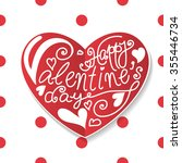 heart shaped paper label with...   Shutterstock .eps vector #355446734
