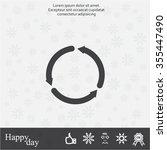 circular arrows vector icon   Shutterstock .eps vector #355447490